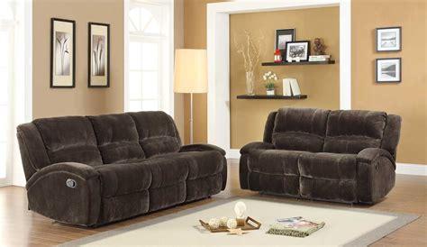 microfiber reclining sofa sets homelegance alejandro reclining sofa set chocolate