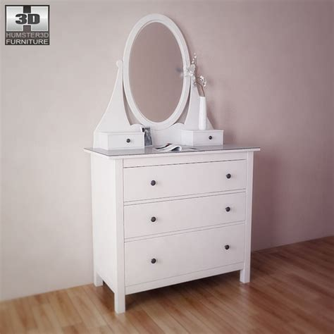 ikea hemnes chest with mirror ikea hemnes chest with mirror 3d model humster3d