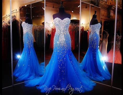 Blue Mermaid Dress beautiful evening dress 2016 luxury blue mermaid prom