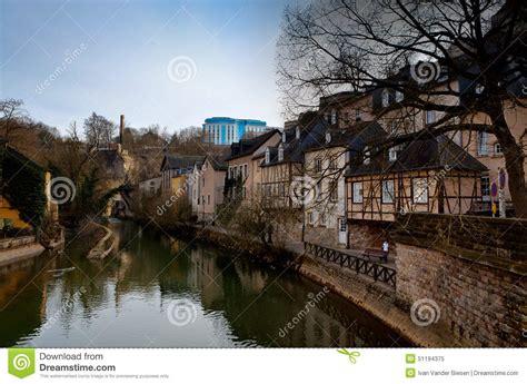 Lu City Z luxembourg city center river stock photo image 51194375