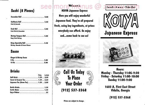 huddle house vidalia ga online menu of koiya japanese express restaurant vidalia