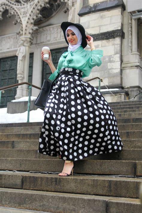 Dress Polka Dress By Hijabinc skirt 24 modest ways to wear with skirts