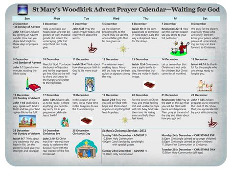 printable advent calendar prayers advent prayer calendar st mary s parish church