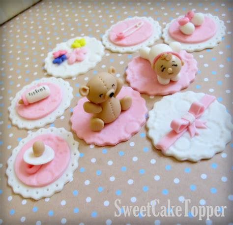 Edible Cupcake Decorations Baby Shower baby shower cupcake topper handmade edible by sweetcaketopper