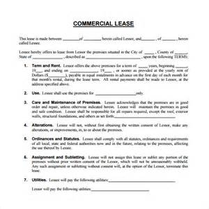 Business Lease Template commercial lease agreement 9 free sles exles