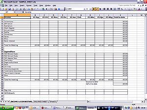 Income Expenditure Spreadsheet Template by Best Photos Of Sle Income And Expense Sheet Personal