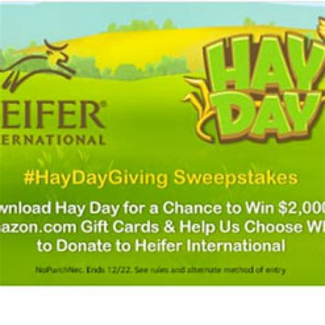 Hay Day Gift Cards - hay day win a 2 000 amazon gift card granny s giveaways