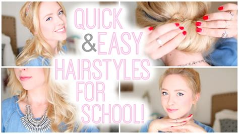 hairstyles for school and easy hairstyles for school 2015