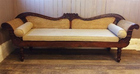 indian couch vintage anglo indian teak rattan sofa settle