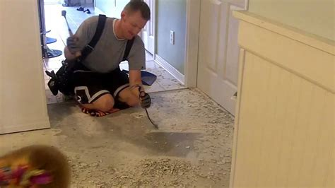 how to remove bathroom floor tile removing tile mortar from my concrete floor youtube