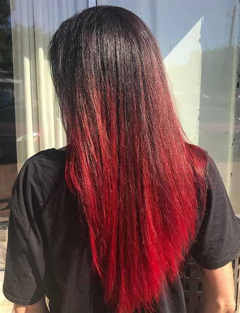 hombre hair color in your fifty black with red ombre www pixshark com images galleries