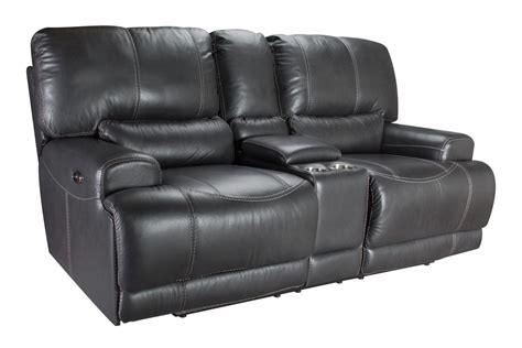 cannon leather power reclining loveseat at gardner white