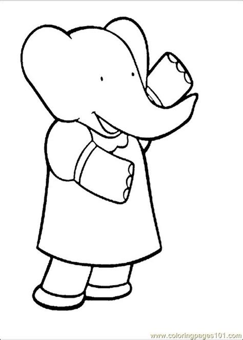 Free Coloring Pages Of Babar Babar Coloring Pages