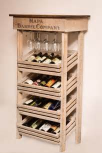 Tall Sideboard Cabinet Napa Vineyard Crate Wine Rack And Cabinet