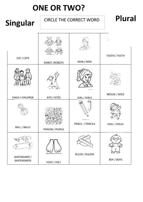 Plurals Worksheets