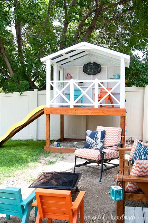 Handmade Home Playhouse - how to build an outdoor playhouse for a houseful of