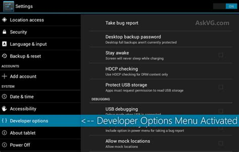 developer options for android tip enable secret quot developer options quot menu in android mobile phones and tablets
