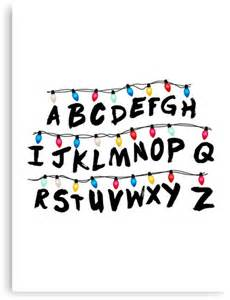 Abc Wall Stickers quot stranger things alphabet wall quot canvas prints by