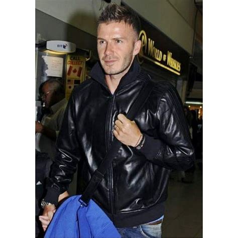 Jaket David Beckam Jaket Semi Kulit Jaket Motor Pria adidas originals david beckham leather jacket obyo