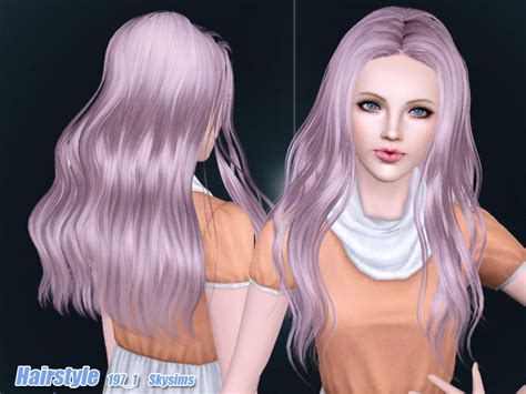 hair 217 by skysims sims 3 downloads cc caboodle skysims hair adult 197 1