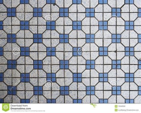 Blue And White Mosaic Tiles Stock Image   Image: 13342659