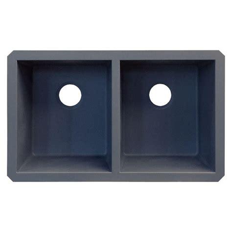 Grey Kitchen Sink Transolid Radius Undermount Granite 32 In Equal Basin Kitchen Sink In Grey Rude3118 17