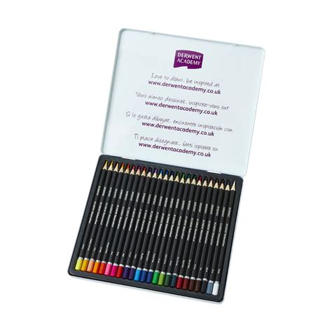 Derwent Watercolour Pencil 24 Set derwent academy watercolour set of 24 pencils officeworks