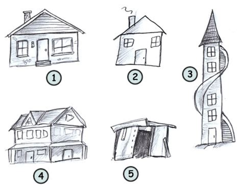 draw a house drawing cartoon houses