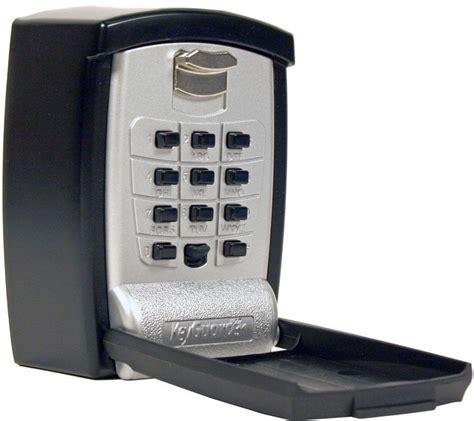 Key Holder Wall by Wall Mount Key Storage Lock Box Push Button Lockbox
