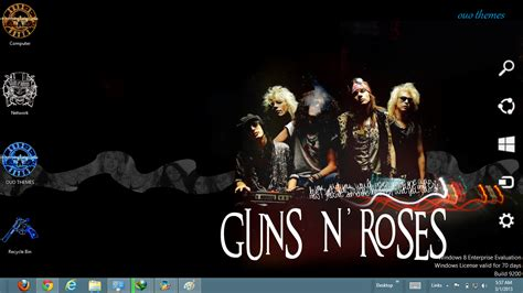 rose themes for windows 8 guns n roses windows 8 theme ouo themes