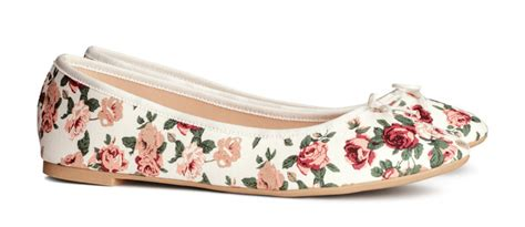 Floral Printed Ballerinas by H M Floral Print Ballet Flats Gt Shoeperwoman