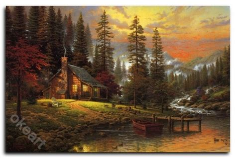 1449482910 thomas kinkade peaceful retreat with 129 best images about kincade paintings on pinterest