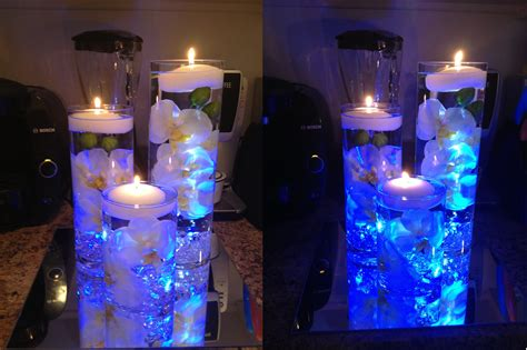 Waterproof Led Lights For Vases Waterfall Centerpiece Reveal Weddingbee