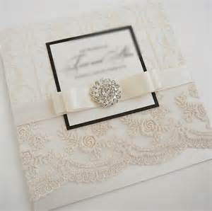elegant wedding invitations with crystals