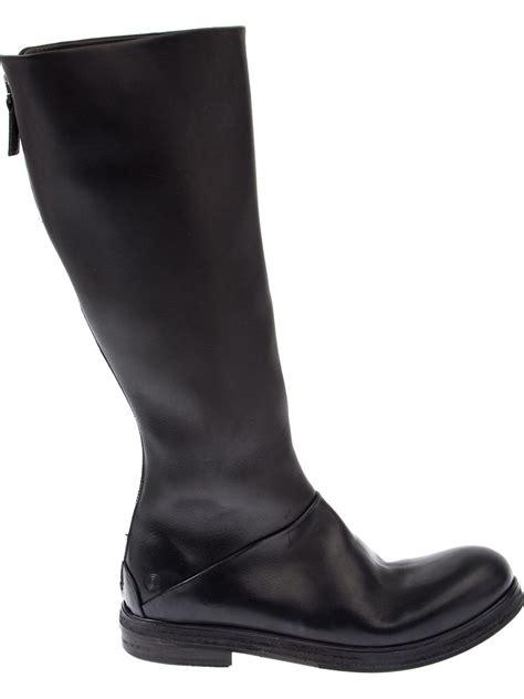 mars 232 ll knee length biker boots in black save 60 lyst