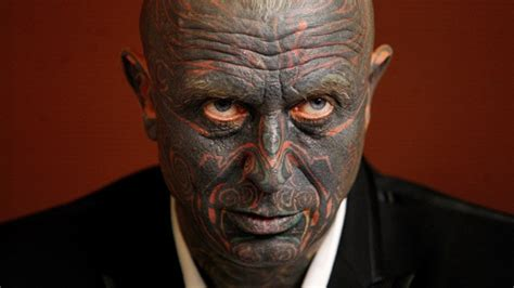 full face tattoo photo presidential candidate has a