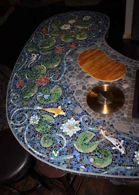 mosaic tile bar top mixed media mosaic bar how to mosaic