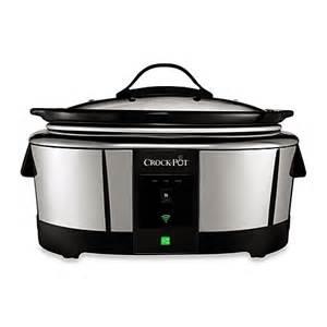 bed bath and beyond crock pot crock pot 174 smart cooker enabled with wemo bed bath