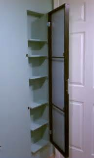 Clever Idea Unused Space Cabinet clever use of space between studs for storage mirror over