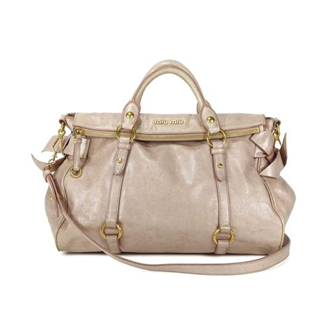 Miu Miu Miuchia Khaki second miu miu vitello bow bag the fifth collection