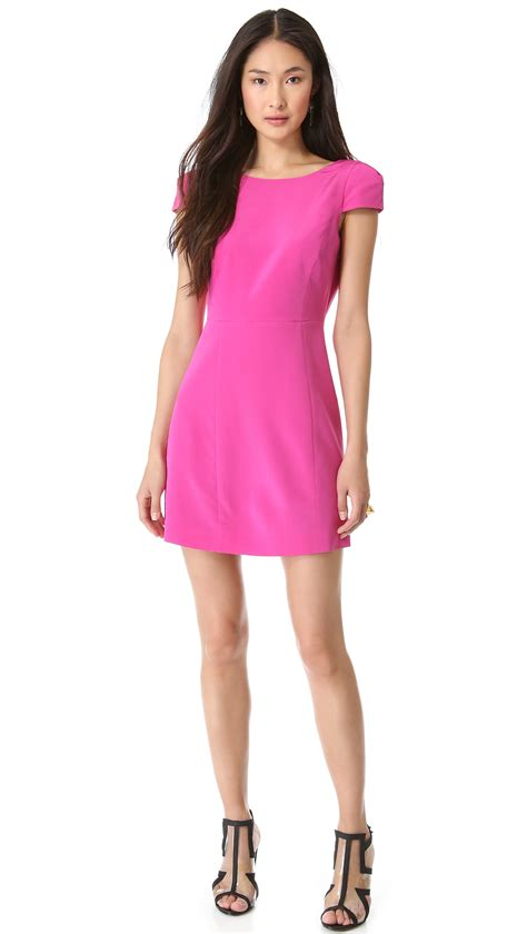 Dress In lyst tibi cap sleeve open back dress in purple