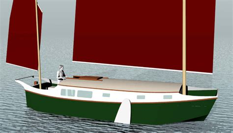 scow boat designs harry ii 30 lod 27 lwl sailing scow small boat