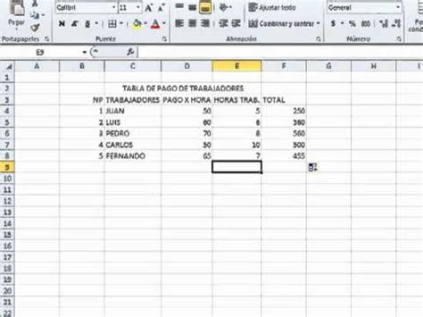 youtube tutorial excel formulas tutorial de excel formulas y tablas youtube