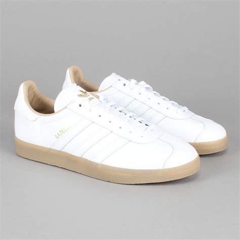 White adidas gazelle white leather new adidas in le fix