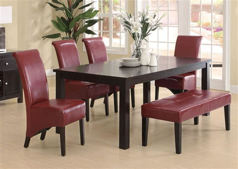 metropolitan 6 piece dining set with bench espresso tms 3pc metropolitan dining set in espresso finish home
