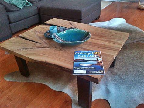 elm live edge pedestal coffee reclaimed elm live edge slab coffee table contemporary