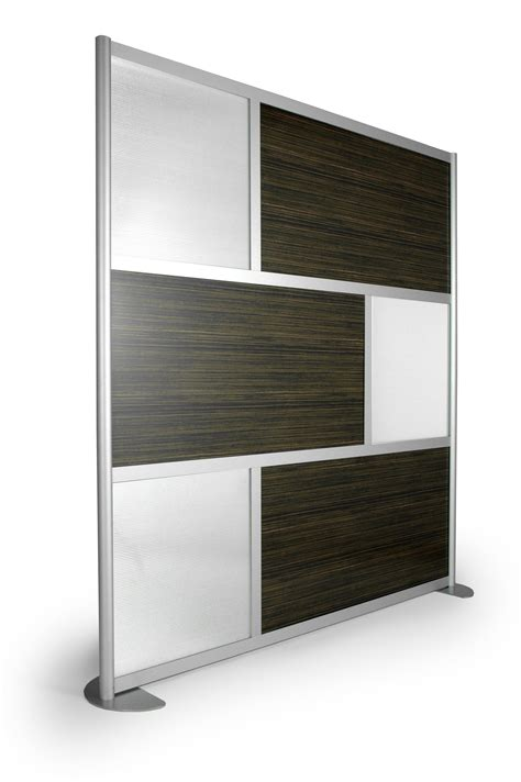 office wall dividers 6 screen with translucent and wood laminate panels 6