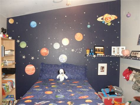 outer space room a beagle and a baby this is our outer space bedroom