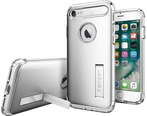 Sgp Slim Armor Tpu With Kickstand For Iphone 6 Plus spigen iphone 8 7 slim armor with kickstand wirelesswave