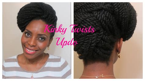 hair styles for cuban twists 73 kinky twists updo natura hair style youtube